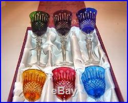 Verres A Vin De Lorraine, Taille Main, Verres Baccarat, Saint Louis