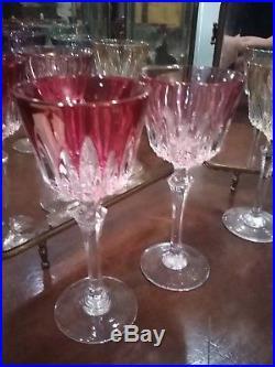 Verres de couleur cristal qualité Saint Louis
