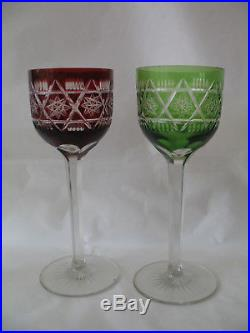 Verres de couleurs en cristal de Saint Louis