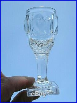 Voneche Saint Louis Le Creusot Service 6 Verres Cave A Liqueur Cristal 19éme Ag